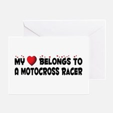Belongs To A Motocross Racer Greeting Card