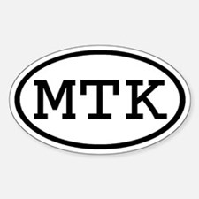 MTK Oval Oval Decal