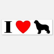 I Love Newfoundlands Bumper Bumper Bumper Sticker