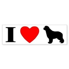 I Love Newfoundlands Bumper Bumper Sticker