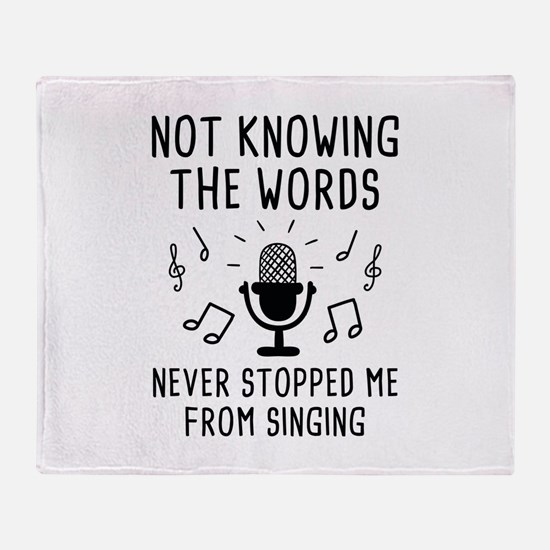 Not Knowing The Words Stadium Blanket