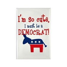 So Cute Democrat Rectangle Magnet
