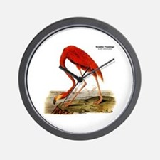 Audubon Flamingo Bird Wall Clock
