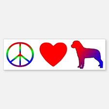 Peace Love Rottweiler Bumper Bumper Bumper Sticker