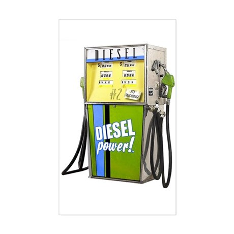 Retro Fuel Pump Art -Rectangle Sticker