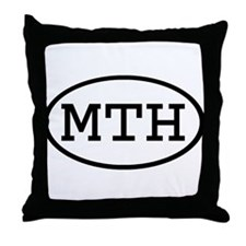 MTH Oval Throw Pillow
