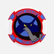 """VS 35 Blue Wolves 3.5"""" Button"""