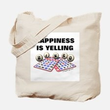 Happiness is Yelling Bingo! Tote Bag [2 sides]