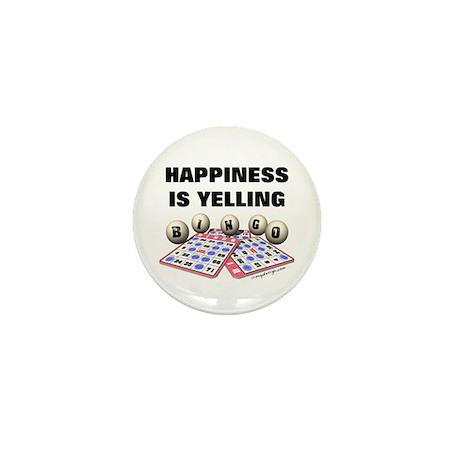 Happiness is Yelling Bingo! Mini Button