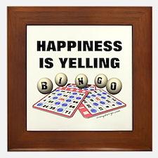 Happiness is Yelling Bingo! Framed Tile