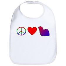 Peace Love Puli Bib