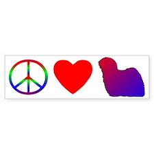 Peace Love Hungarian Puli Bumper Bumper Sticker