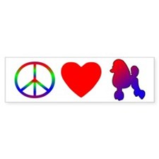 Peace Love Poodle Bumper Bumper Sticker