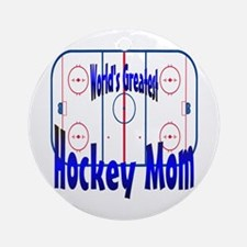 Greatest Hockey MOM Keepsake (Round)