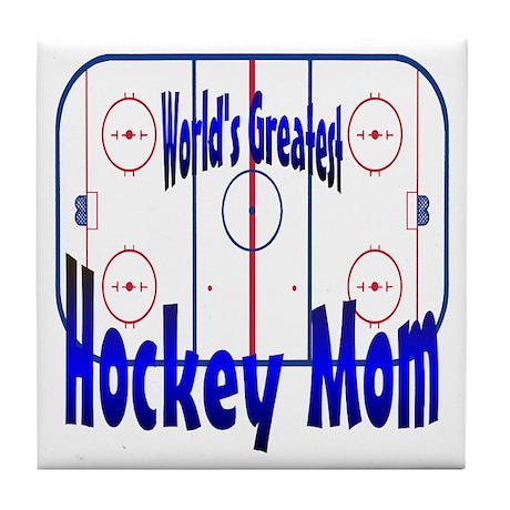 Greatest Hockey MOM Tile Coaster