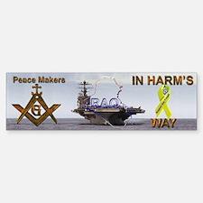 Masonic Vinyl Support our Troops Bumper Bumper Bumper Sticker