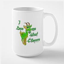 Four Leaf Clover Goat Large Mug