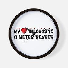 Belongs To A Meter Reader Wall Clock