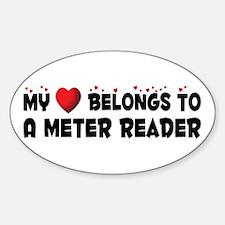 Belongs To A Meter Reader Oval Decal