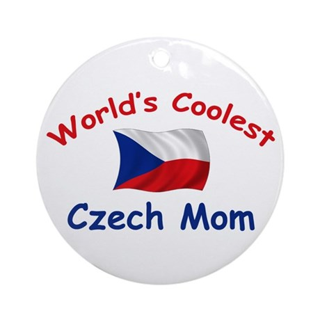 Coolest Czech Mom Ornament (Round)