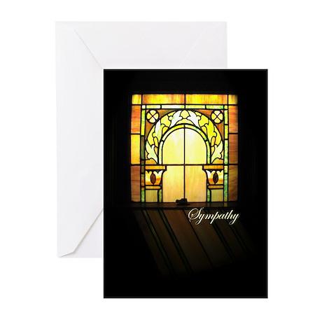 Sympathy Yellow Window Greeting Cards (Pk of 10)
