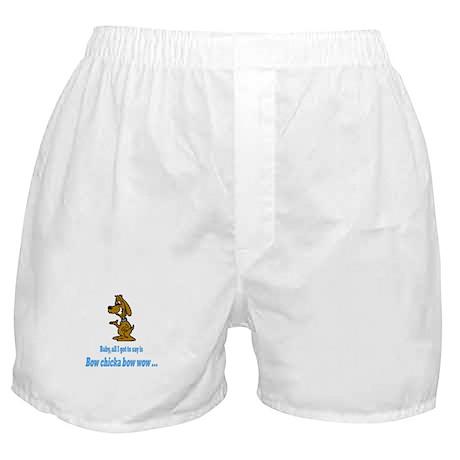 Bow chicka bow wow Boxer Shorts