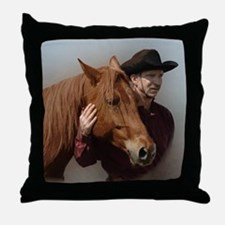A Man and his Horse - Throw Pillow