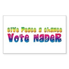 Nader for Peace Rectangle Decal