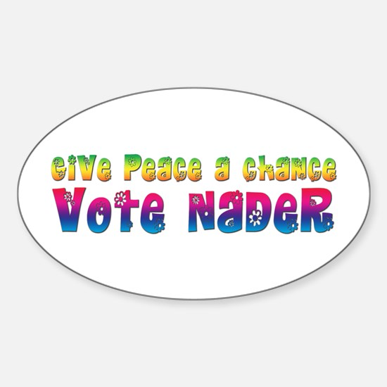 Nader for Peace Oval Decal