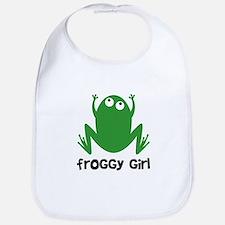 Froggy Girl Bib