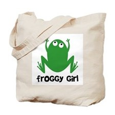 Froggy Girl Tote Bag
