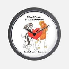 Big Dogs Lil Horses Wall Clock