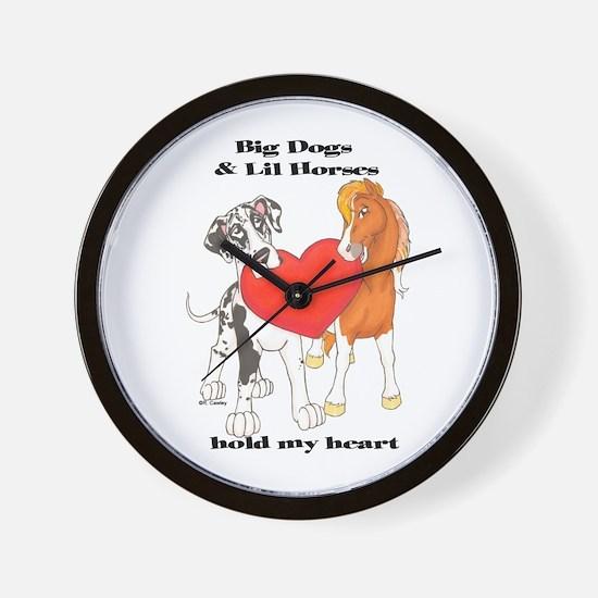 Big Dogs Lil Horses Wall Clock