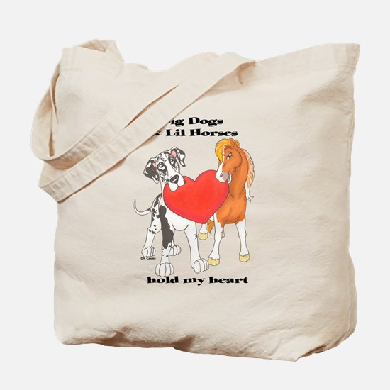 Big Dogs Lil Horses Tote Bag