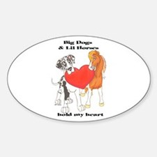 Big Dogs Lil Horses Oval Decal