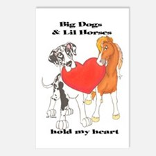 Big Dogs Lil Horses Postcards (Package of 8)