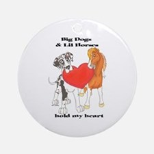 Big Dogs Lil Horses Ornament (Round)