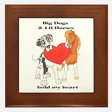 Big Dogs Lil Horses Framed Tile
