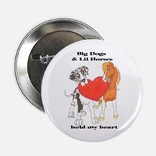 """Big Dogs Lil Horses 2.25"""" Button"""