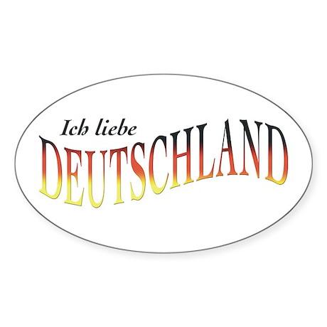 ich liebe deutschland oval decal by collisterwear. Black Bedroom Furniture Sets. Home Design Ideas