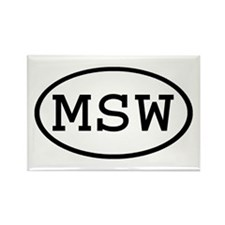 MSW Oval Rectangle Magnet
