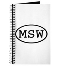 MSW Oval Journal