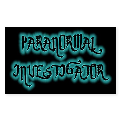 ...Paranormal Investigator 2... Sticker (Rectangul