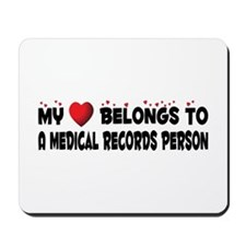 Belongs To A Medical Records Person Mousepad