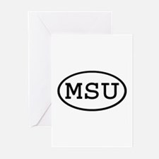 MSU Oval Greeting Cards (Pk of 10)