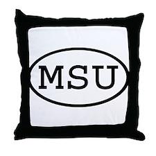 MSU Oval Throw Pillow