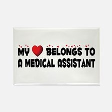 Belongs To A Medical Assistant Rectangle Magnet