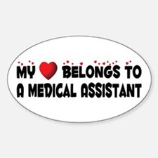 Belongs To A Medical Assistant Oval Decal