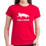 I has a kitteh - Women's Dark T-Shirt