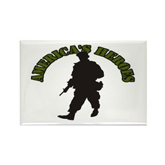 American Soldier Rectangle Magnet (100 pack)